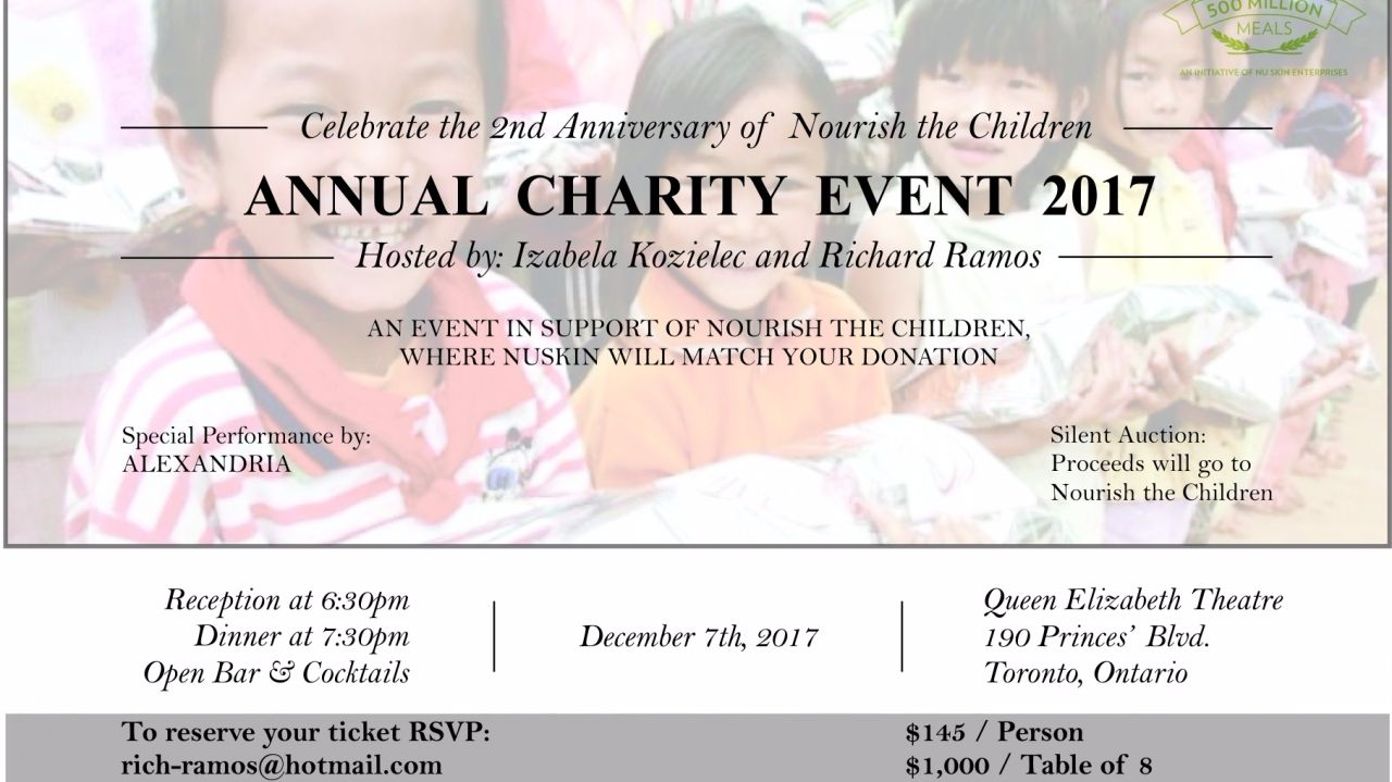 Annual Charity-Nourish the Children