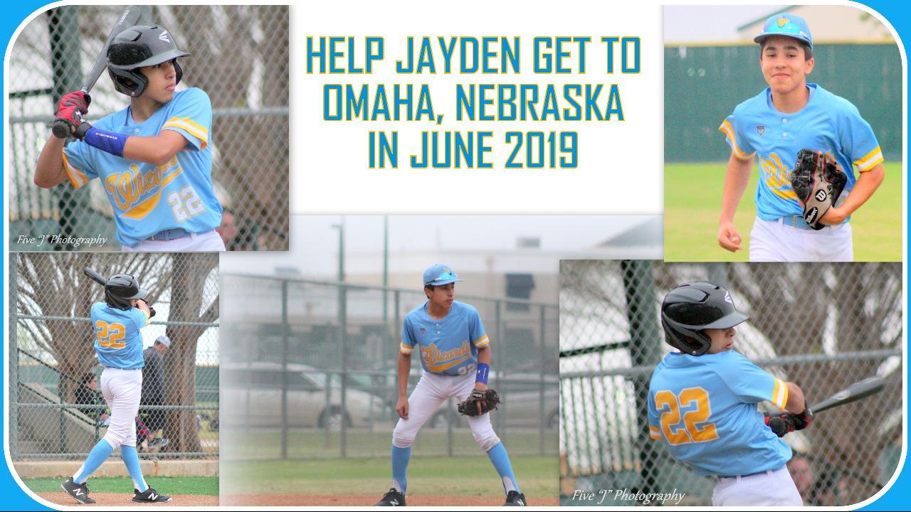 BASEBALL FUNDRAISER- HELP JAYDEN GET TO OMAHA!