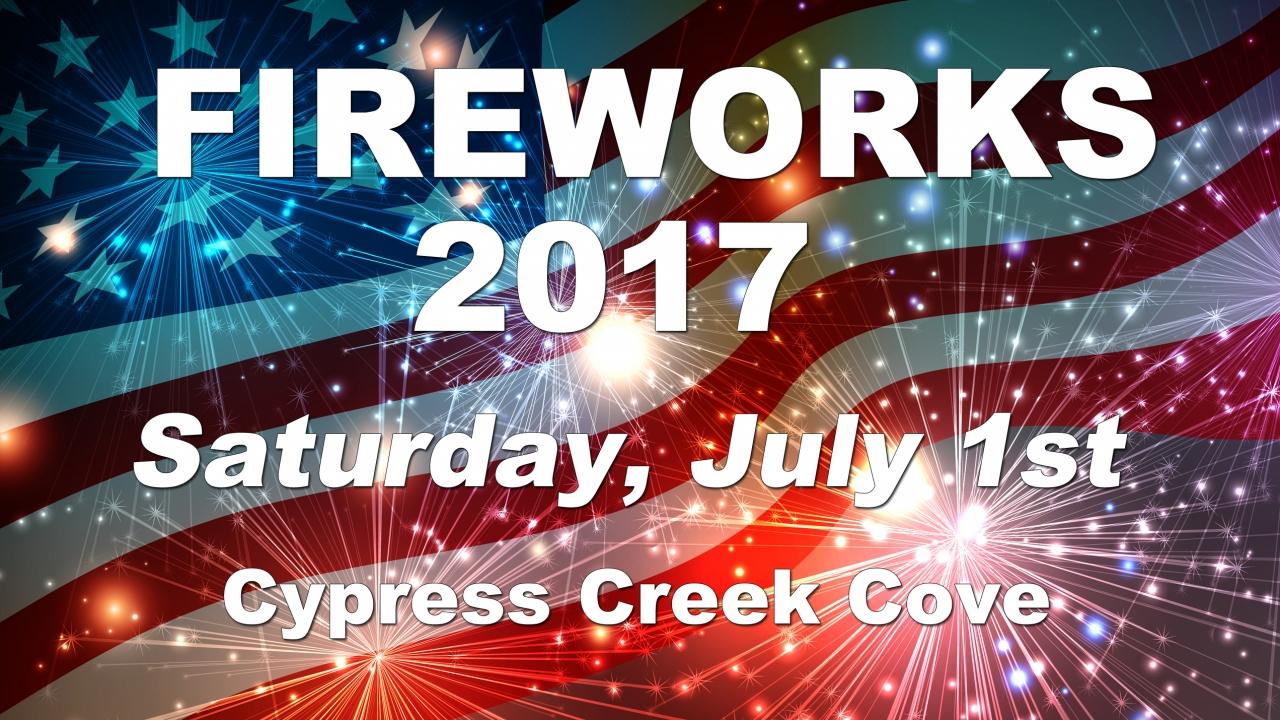Cypress Creek Fireworks
