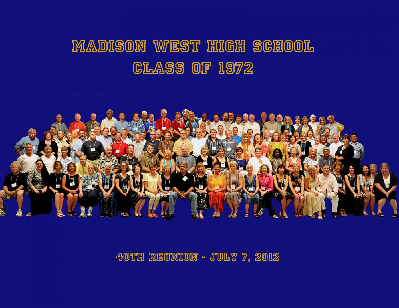 40th reunion class photo