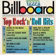 Top 10 Billboard Hits of '72, rock